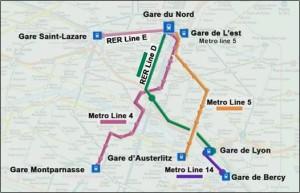 Train & Metro Stations in Paris