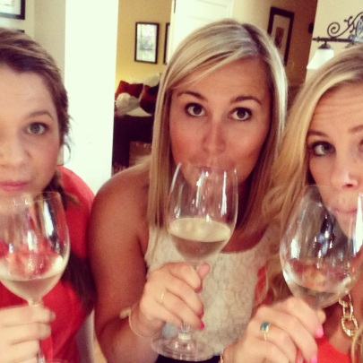 Wine during a selfie